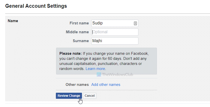 How to change your name on Facebook website and mobile app