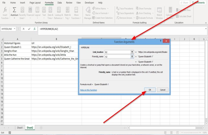 How to use Excel Hyperlink Function