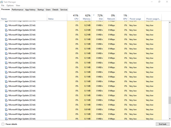 Why are there multiple instances of Microsoft Edge and Microsoft Edge update service in Task Manager