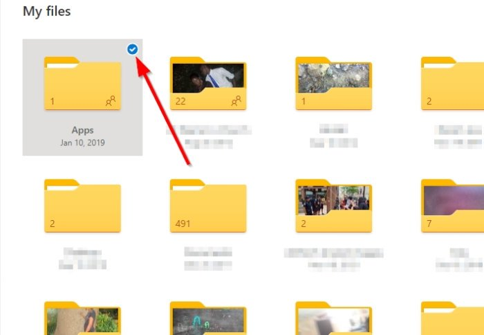 How to share a file or folder in OneDrive