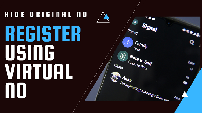Register on Signal, WhatsApp, Telegram using a Virtual phone number