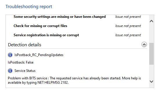 Some security settings are missing or have been changed