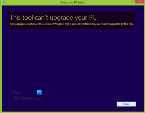 This tool can't upgrade your PC