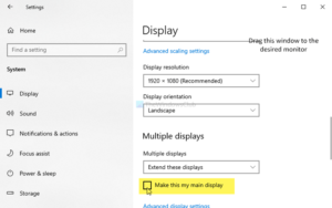 Fix Windows 10 opening apps on wrong monitor in multi-monitor setup