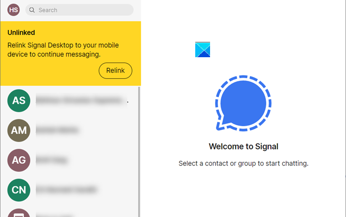 Cannot Send or Receive Messages in Signal