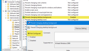 Desktop background Group Policy not applying Windows 10