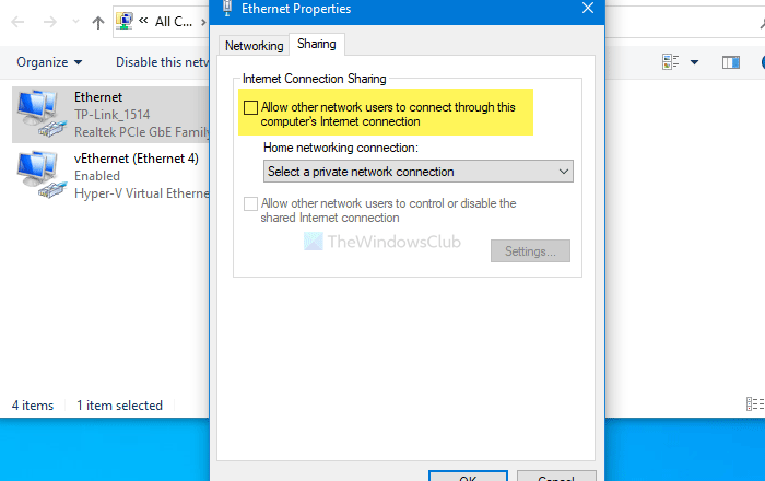 How to disable Internet Connection Sharing (ICS) in Windows 10