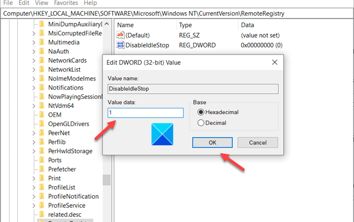 Memory Leak Issue In Remote Registry Fixed
