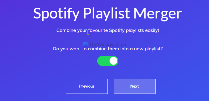 How to merge multiple playlists on Spotify