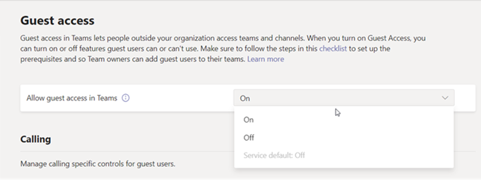 Microsoft Teams Guest Access Enabled