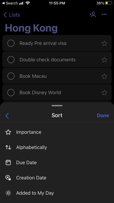 Microsoft To-Do on iOS Tips and Tricks