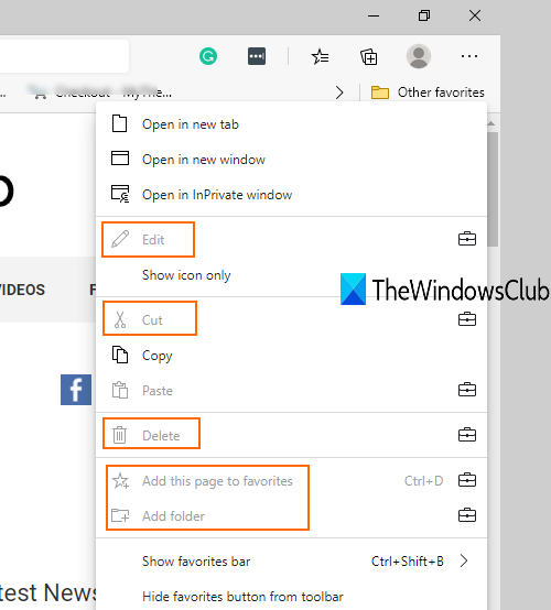 prevent changes to favorites on microsoft edge