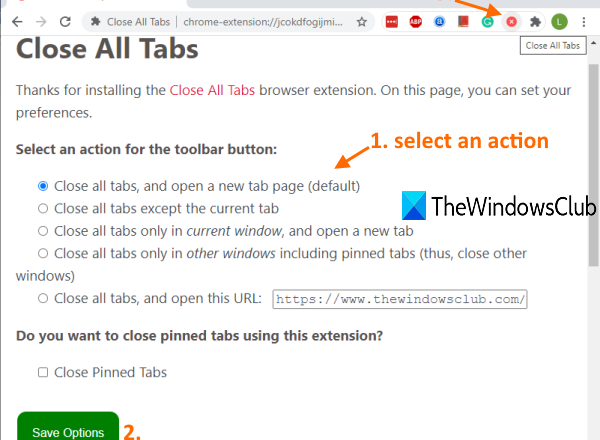 close all opened browser windows at once in chrome, edge, and firefox