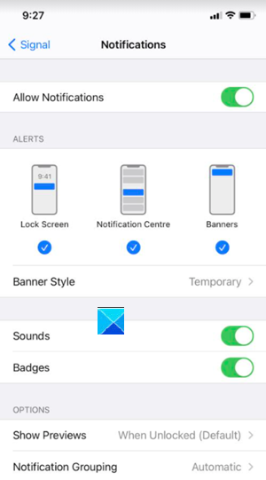 Signal App Banners