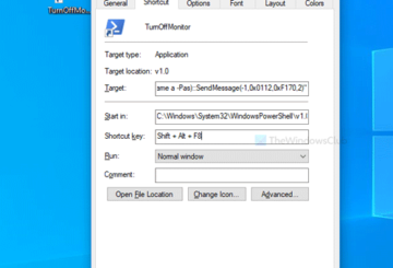How to turn off monitor using a shortcut on Windows 10