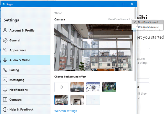 How to use IP Camera apps with Skype