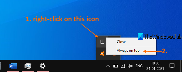 use task manager notification icon