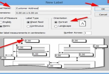 How to create Labels in Access