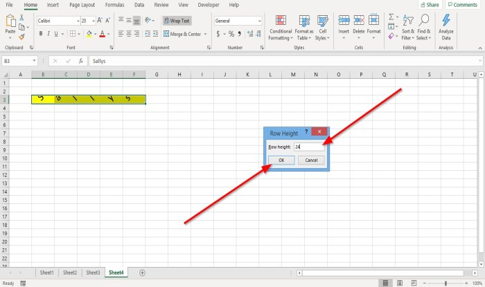 How to change Row Height and Column Width in Microsoft Excel
