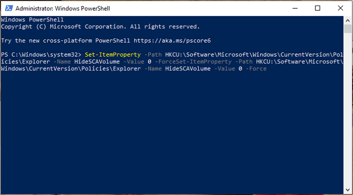 Admin Windows Powershell