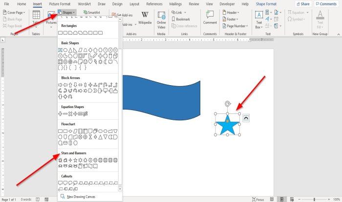 How to group Objects in Microsoft Word