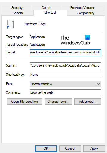 Disable New Download Flyout in Microsoft Edge