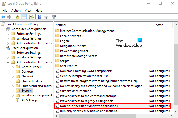 Disable PowerShell on Windows 10 using Group Policy