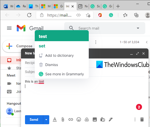 Grammarly extension for Microsoft Edge