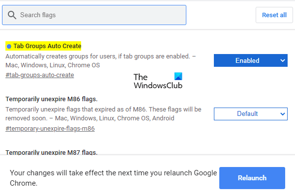 How to Enable Tab Groups Auto Create in Google Chrome