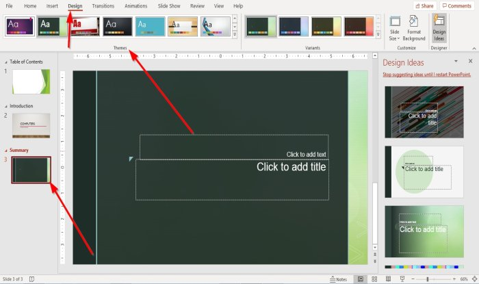 How to create Sections in PowerPoint