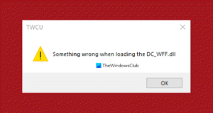 Something wrong when loading the dc_wff.dll