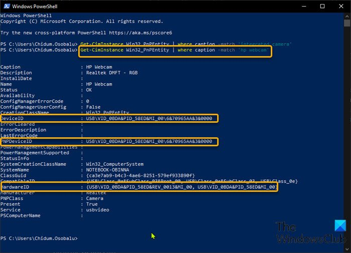 Use PowerShell to find and disable Webcams-2