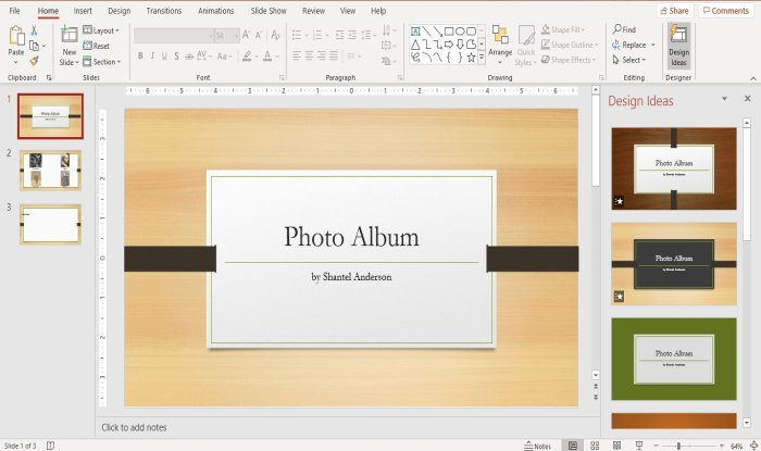 How to create a Photo Album in PowerPoint