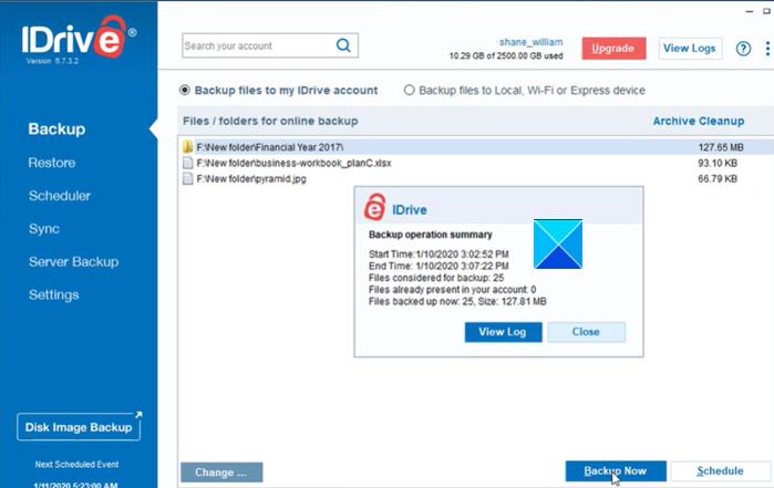 iDrive-Backup