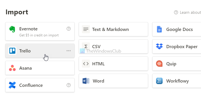 How to import Trello tasks, boards, and workspaces into Notion