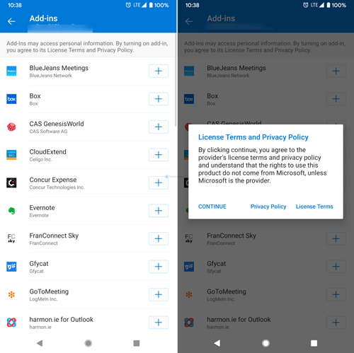 How to install add-ins in Outlook for Android and iOS