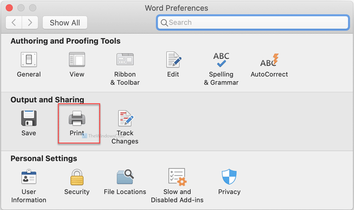How to print hidden text in Word on Mac