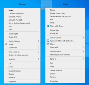 How to remove Edit with Photos and Paint 3D from context menu