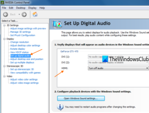 NVIDIA high definition audio not plugged in Windows 10