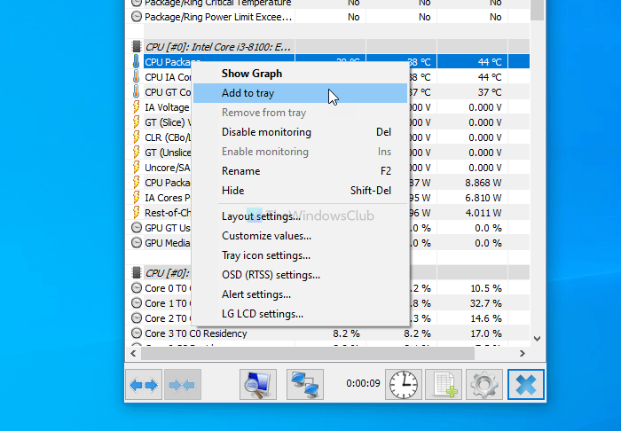 How to show CPU and GPU temperature in System Tray