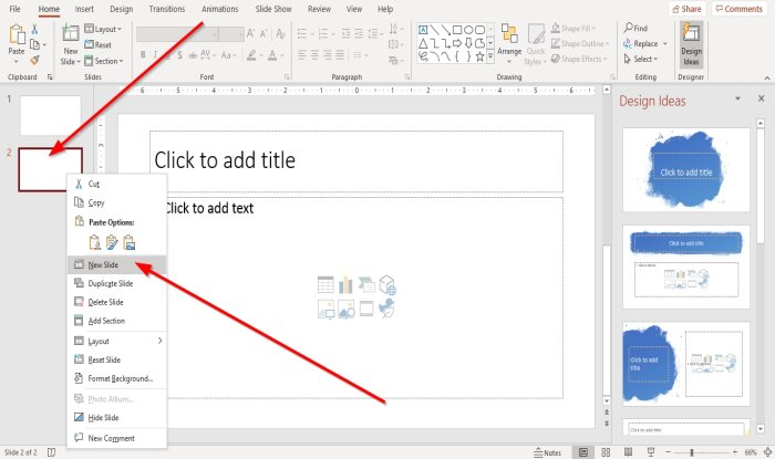 How to add and remove Slide Layout in PowerPoint