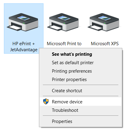 How to remove a Printer in Windows 10
