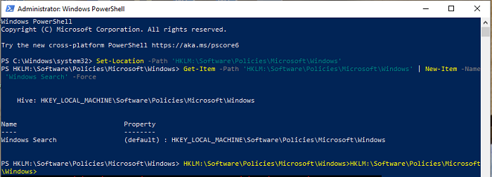 Use PowerShell to change Registry values