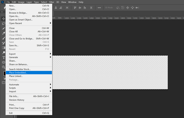 Inserting image into a layer in Photoshop