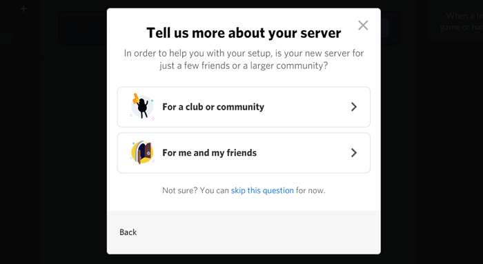 Select the community