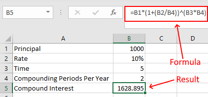 Compound Interest Semi-anually in Excel