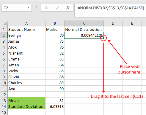 Create Bell Curve Excel Normal Distribution