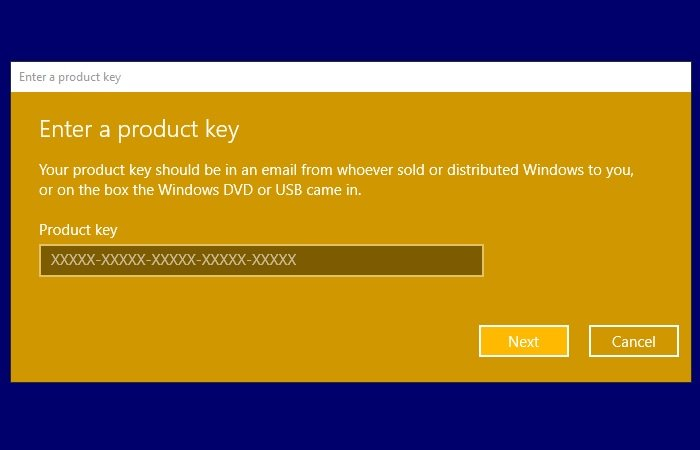Windows 10 activation error 0xc004e016