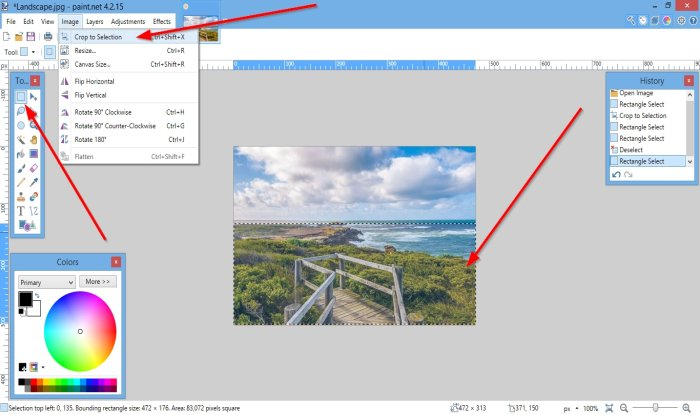 How to Crop and Rotate a Picture in Paint.NET