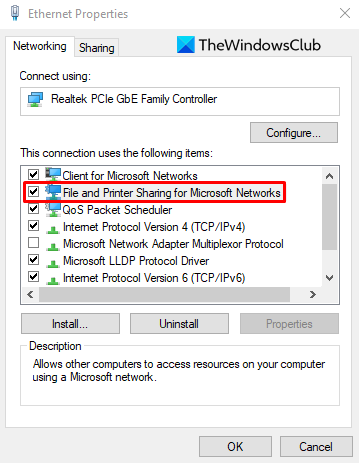 How to Turn On or Off File and Printer Sharing in Windows 10